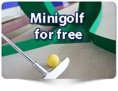 Discounts on minigolf for groups